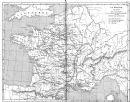 FRANCE: La France a la Mort de St Louis, 1879 map